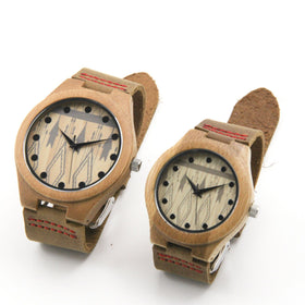 Bamboo wood 39/44 mm Wooden Watch + Free Engraving