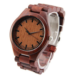 Red Sandalwood 44mm Wooden Watch + Free Engraving-WS-001 - Www.EverythingWood.Store