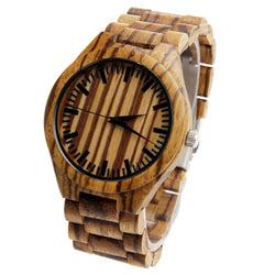 Full Wooden Luxury Watch Zebra - Www.EverythingWood.Store