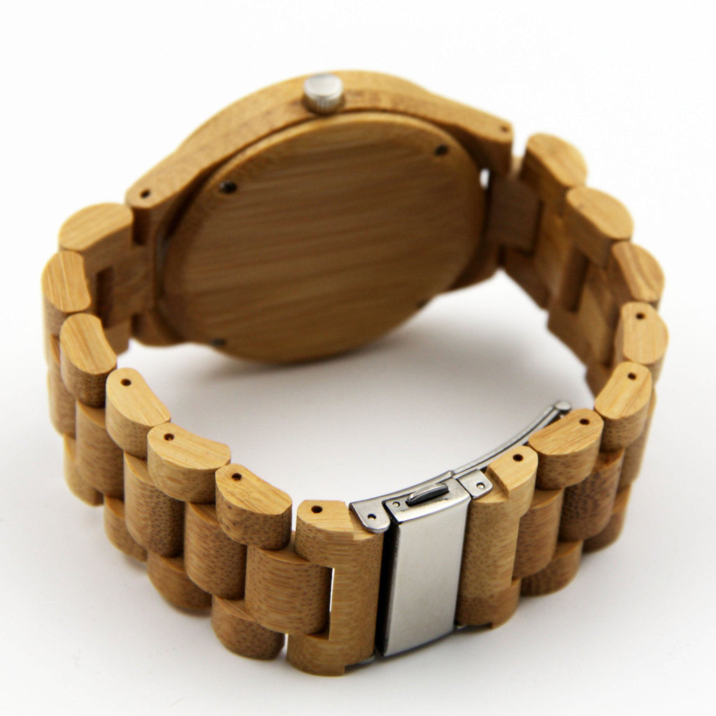 Full Wooden Luxury Watch Bamboo EWS-LBN022 - Www.EverythingWood.Store
