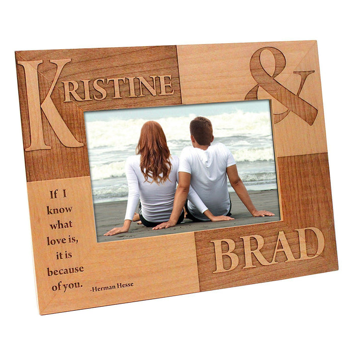 "Alder Wood 7-1/4"" x 9-1/4"" Photo Frame (Holds 4"" x 6"" Photo) - Www.EverythingWood.Store"