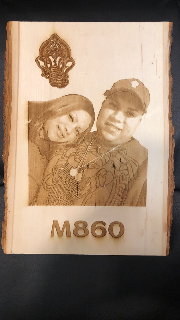 Photo Engraving on Base Wood Plaque - EWS Custom Gifts - Everything Wood Store