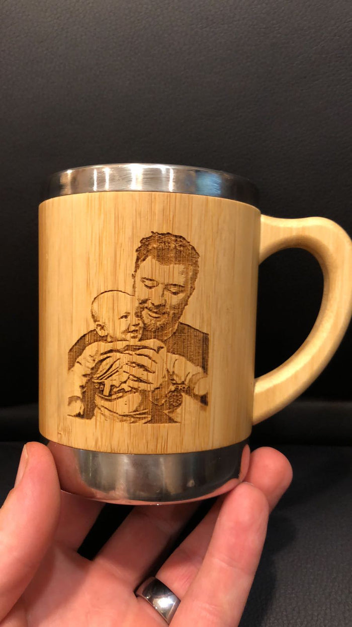 Bamboo and Stainless Steel Coffee Mug/Travel Tumbler - EWS Custom Gifts - Everything Wood Store