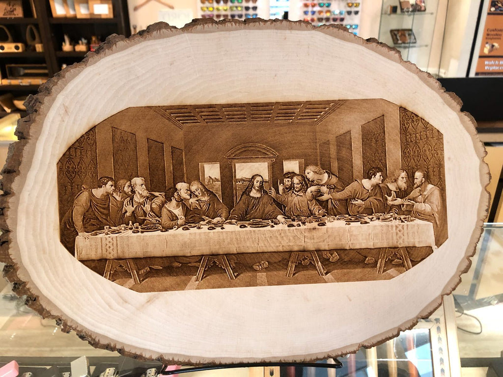 Photo Engraving on Base Wood Plaque