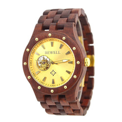 Wooden Luxury Watch-No Battery Automatic movement - Www.EverythingWood.Store