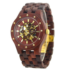 Luxury Wooden Watch Automatic Movement W131b - EWS Custom Gifts - Everything Wood Store