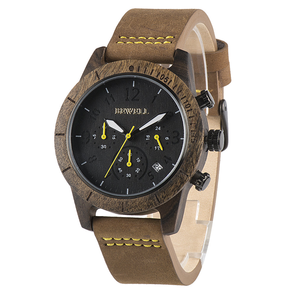 Wood Watch || EWS Autumn Leather Band