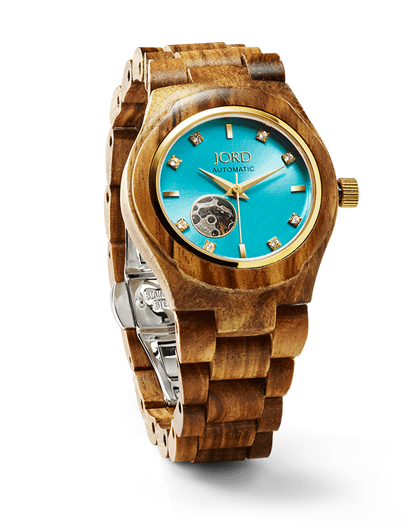 JORD CORA SERIES - ZEBRAWOOD & TURQUOISE