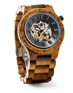 JORD WOOD WATCHES DOVER SERIES - KOA & BLACK