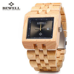Maple Wood Square Men Watch - EWS Custom Gifts - Everything Wood Store