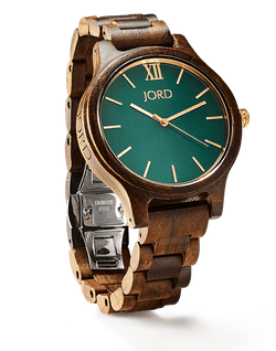 JORD FRANKIE SERIES - DARK SANDALWOOD & EMERALD - EWS Custom Gifts - Everything Wood Store