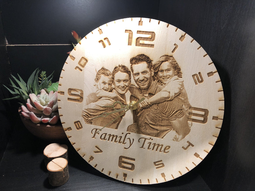 Personalized Wooden Clock - EWS Custom Gifts - Everything Wood Store