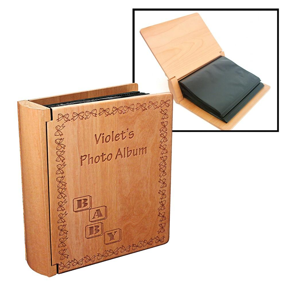 Customizable Maple Wood Photo Album