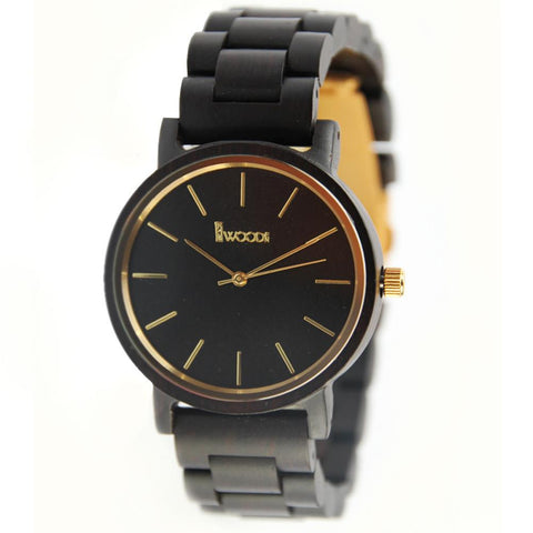 Ebony Wood 44mm Wooden Watch EWS-LBN026