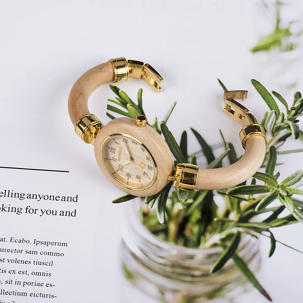 Women's Wooden Watches || EWS Diana Maple
