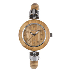 Women's wooden watches the Ews Diana Olive. Bewell EWS Diana Zebra is natural wood watch is hand-crafted with 100% natural wood material without paint, it's light-weight and comfy to wear. It's retro distinctive cool vogue hand-crafted watch for women. All Diana series are unique wood anniversary gifts.