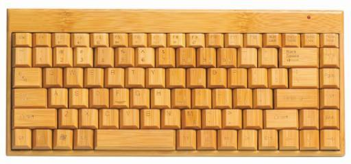 Wooden Keyboard Handmade Wireless Bamboo  and Mouse for PC, MAC