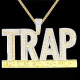 Trap Custom Piece Take Risk Achieve Profit Lab Made Diamond Piece
