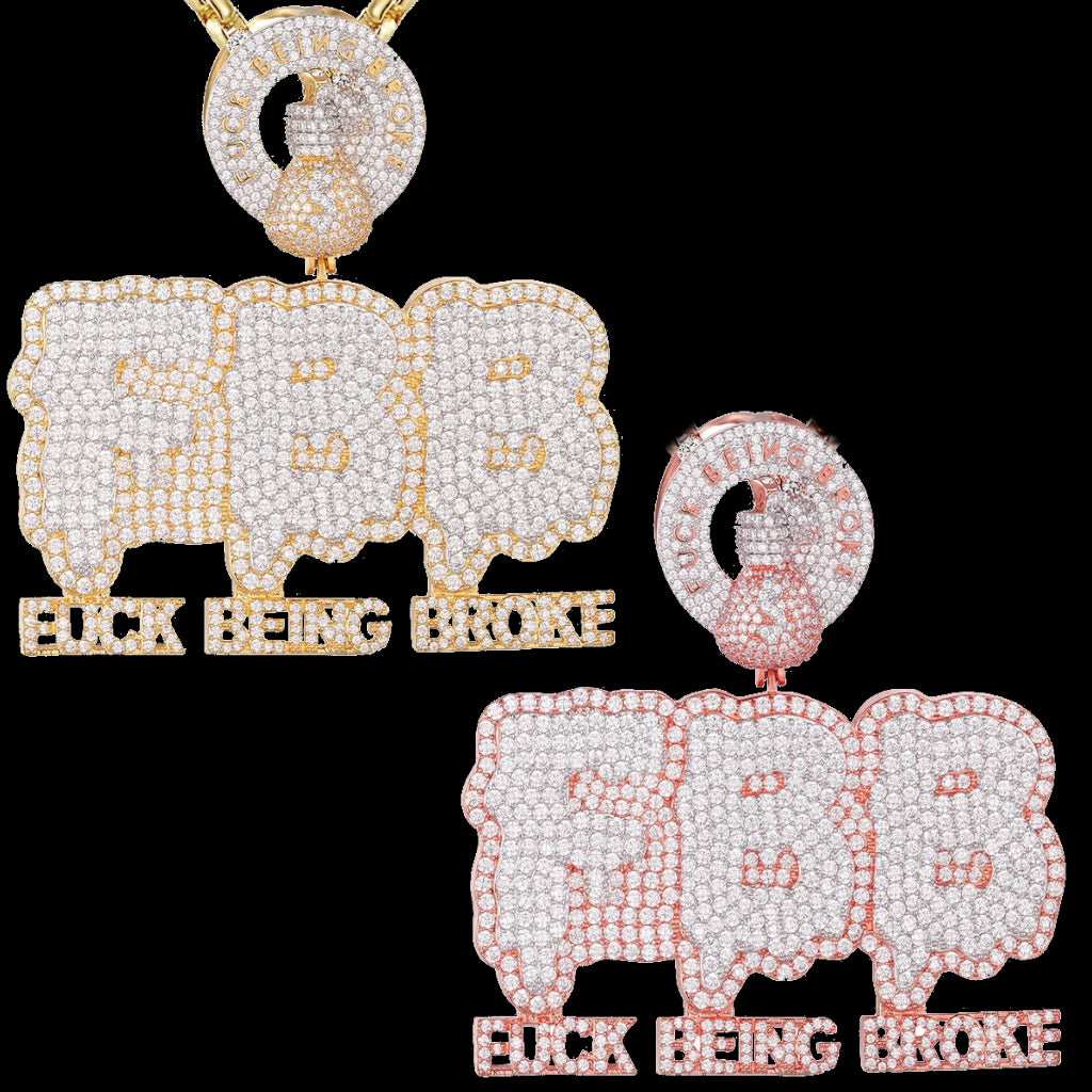 Hip Hop Blinged Out F Being Broke Pendants