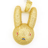 Gold Bunny Rabbit Face