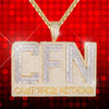 Baguette Icy CFN Came From Nothing Double Layer Hustle Pendant Chain Iced Out Customs