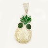 Cool Pineapple Man Gold Pendant