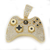 Video Game Gold Controller Bling Pendant