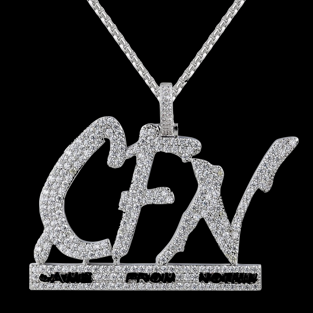 Custom CFN Came From Nothin Iced Out Hiphop Pendant Chain