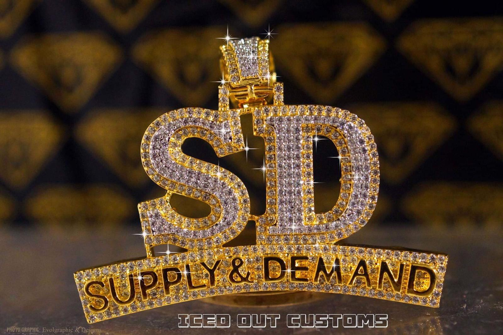 Custom Supply & Demand Iced Out Piece