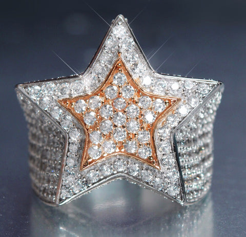 STAR RING ROSEGOLD DOUBLE