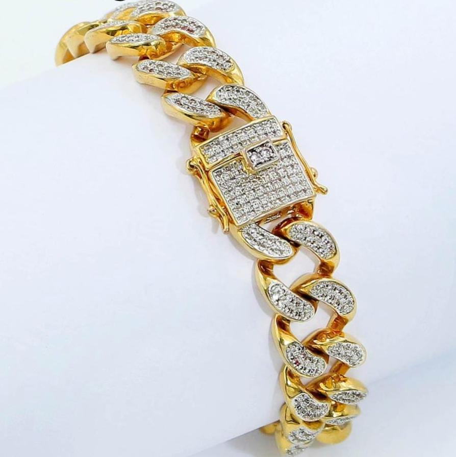 Micro Pave Cuban Bracelet All Iced Out