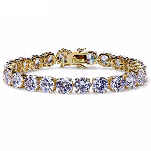 Tennis Bracelet Gold Silver Color Iced Out 1 Row