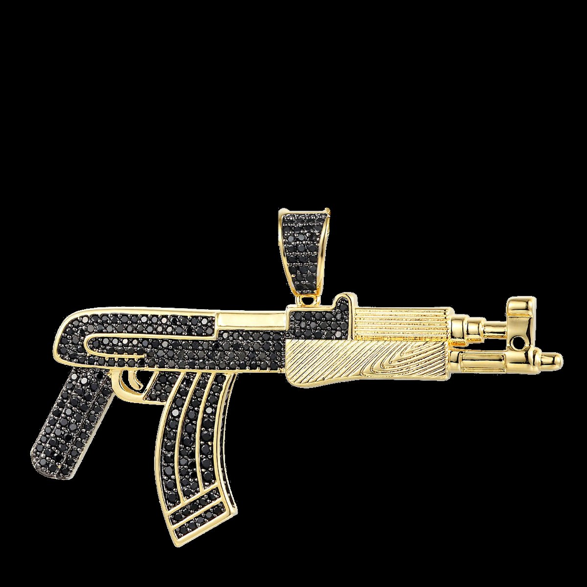 Deluxe Ak-47 Iced Out Simulated Diamond Pendant