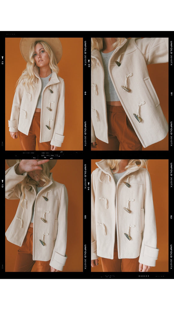 Banana Republic Beige Toggle Peacoat