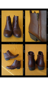 Faux Leather F21 Booties Size 8