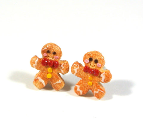 Gingerbread Man Ear studs - Gemnesis