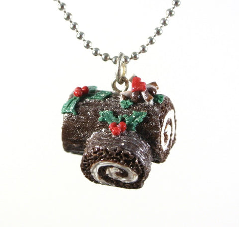 Christmas Log Cake Necklace - Gemnesis