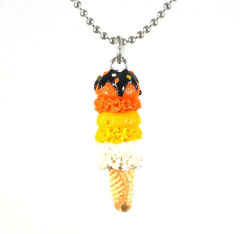 Three Tier Halloween Ice Cream Necklace - Gemnesis