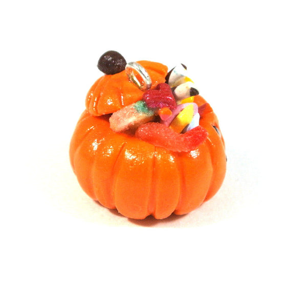 Halloween Candy Pumpkin Necklace - Gemnesis