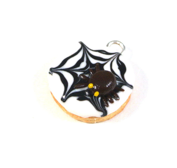 Spider Web Cookie Necklace
