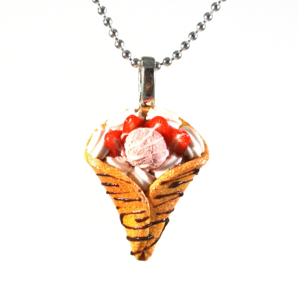 Strawberry Crepe Necklace