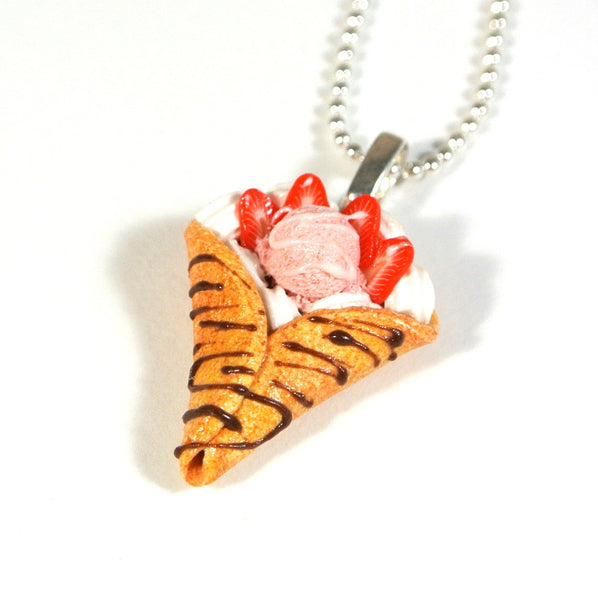 Strawberry Crepe Necklace - Gemnesis