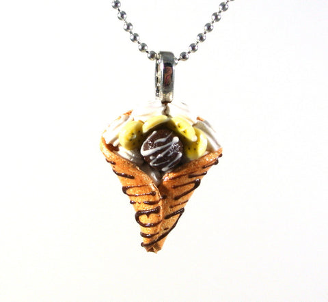 Chocolate Banana Crepe Necklace - Gemnesis