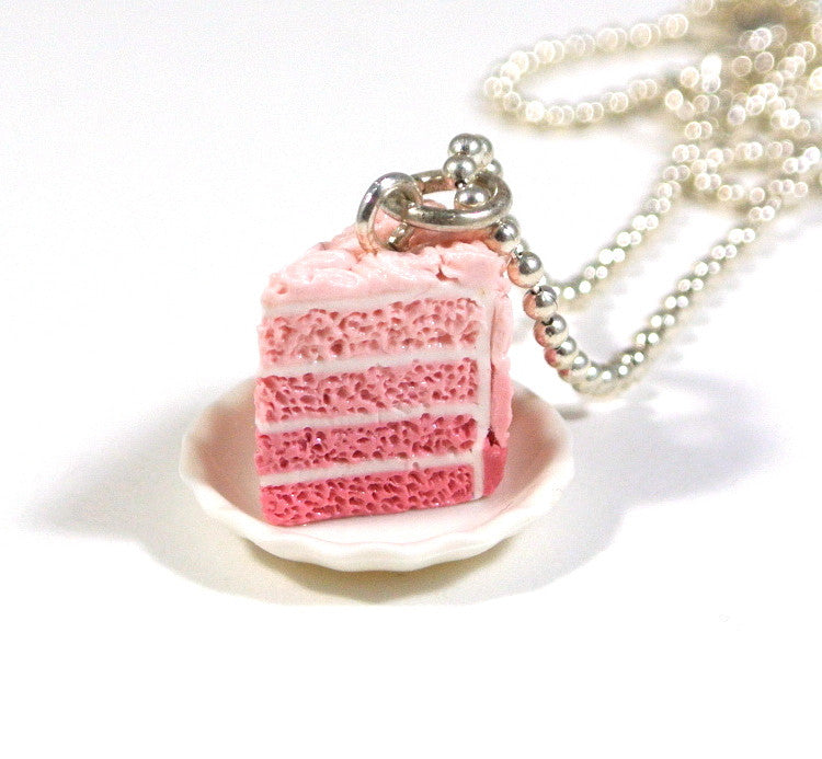 ... Pink Ombre Rosette Cake on a Plate Necklace - Gemnesis ...  sc 1 st  Gemnesis & Pink Ombre Rosette Cake on a Plate Necklace \u2013 Gemnesis