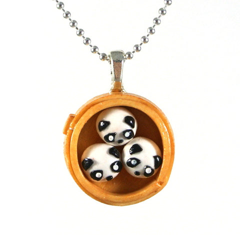 Panda Steam Bun Necklace - Gemnesis