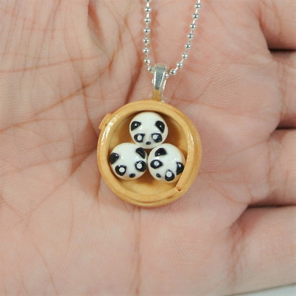 Panda Steam Bun Necklace