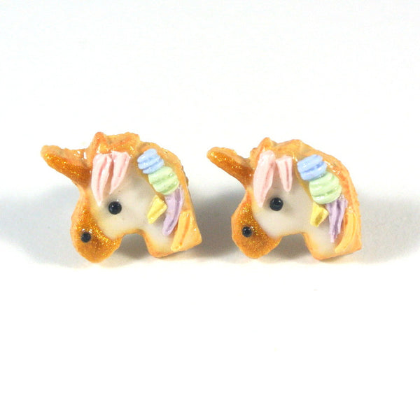 Unicorn Cookie Ear Studs - Gemnesis