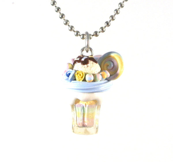Pastel Rainbow Milkshake Necklace - Gemnesis