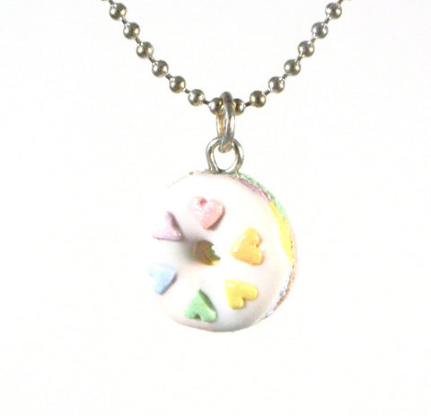 Pastel Rainbow Donut Necklace