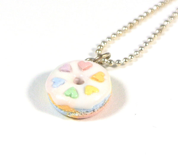 Pastel Rainbow Donut Necklace - Gemnesis